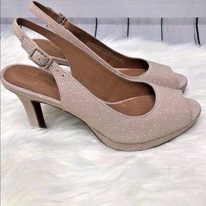 687ae6b84461 Clarks Shoes - Clark s Peep Toe Platform Slingback Pumps